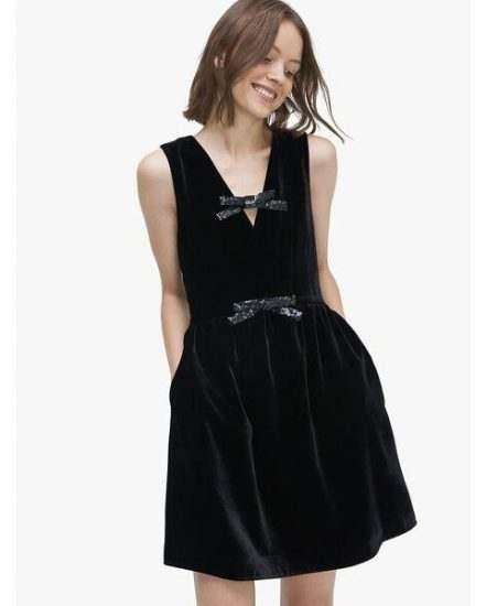 Fashion 4 - sequin-bow velvet dress