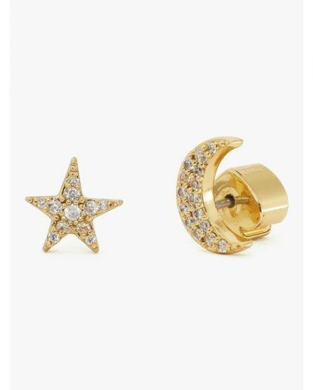 Fashion 4 - something sparkly pavé star & moon studs