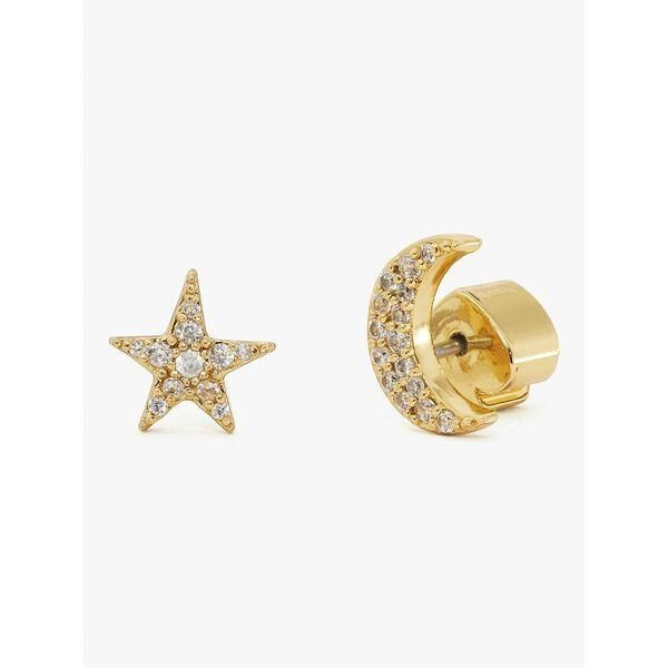 Fashion 4 - something sparkly pavé star & moon studs