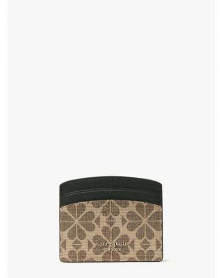 Fashion 4 - spade flower coated canvas cardholder