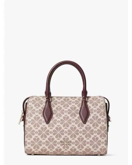 Fashion 4 - spade flower coated canvas casey medium satchel