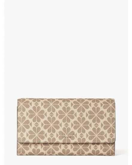 Fashion 4 - spade flower coated canvas chain clutch