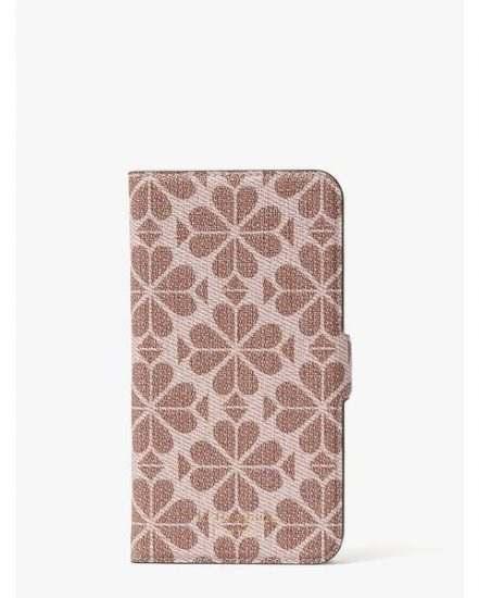 Fashion 4 - spade flower coated canvas iphone 11 magnetic wrap folio case