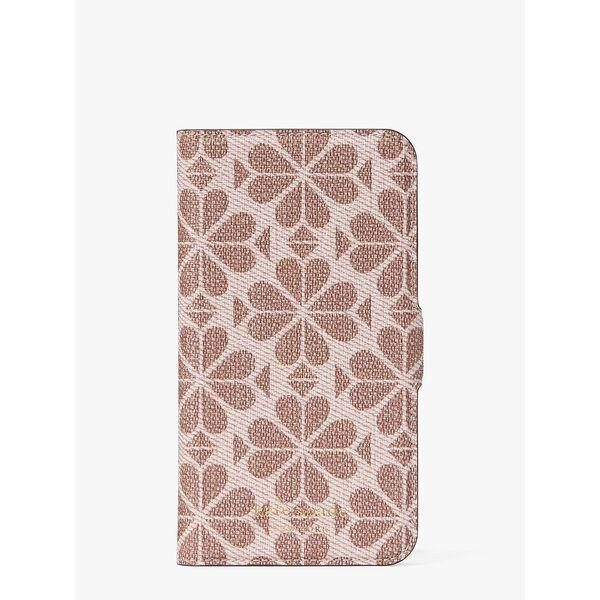 Fashion 4 - spade flower coated canvas iphone 11 pro magnetic wrap folio case