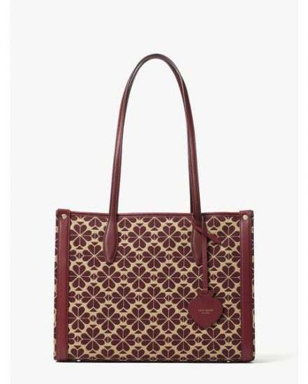 Fashion 4 - spade flower jacquard market medium tote