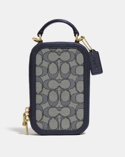 Fashion 4 Coach Alie Camera Bag In Signature Jacquard