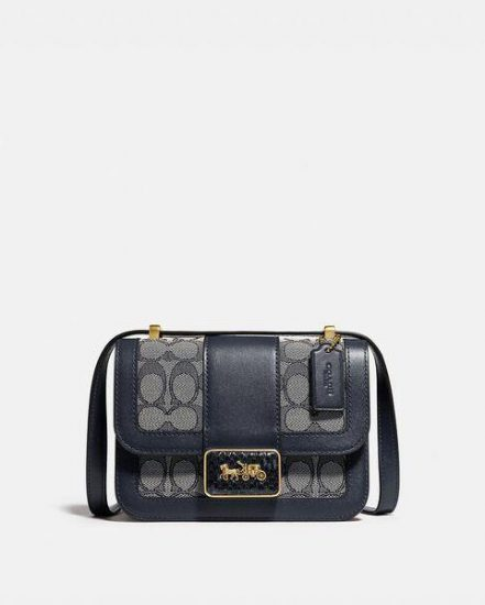 Fashion 4 Coach Alie Shoulder Bag 18 In Signature Jacquard With Snakeskin Detail
