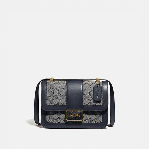 Fashion 4 Coach Alie Shoulder Bag In Signature Jacquard With Snakeskin Detail