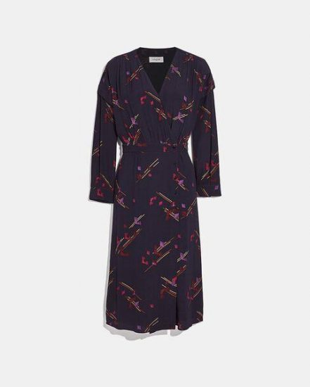 Fashion 4 Coach Crepe Draped Midi Dress