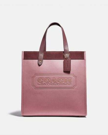 Fashion 4 Coach Field Tote In Colorblock With Coach Badge