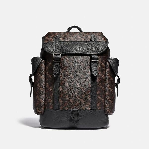 Fashion 4 Coach Hitch Backpack With Horse And Carriage Print