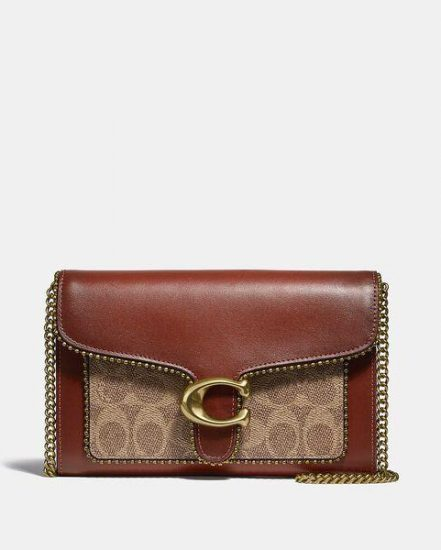 Fashion 4 Coach Tabby Chain Clutch In Signature Canvas With Beadchain