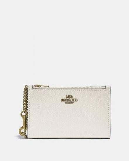 Fashion 4 Coach Zip Chain Card Case In Colorblock