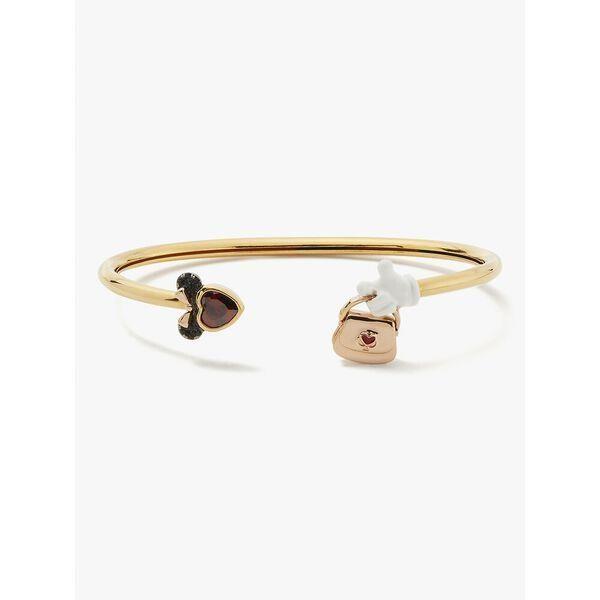 Fashion 4 - disney x kate spade new york minnie mouse stone flex cuff bracelet