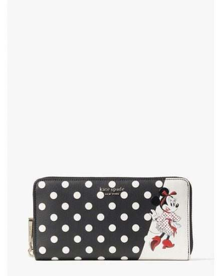 Fashion 4 - disney x kate spade new york minnie mouse zip around continental wallet