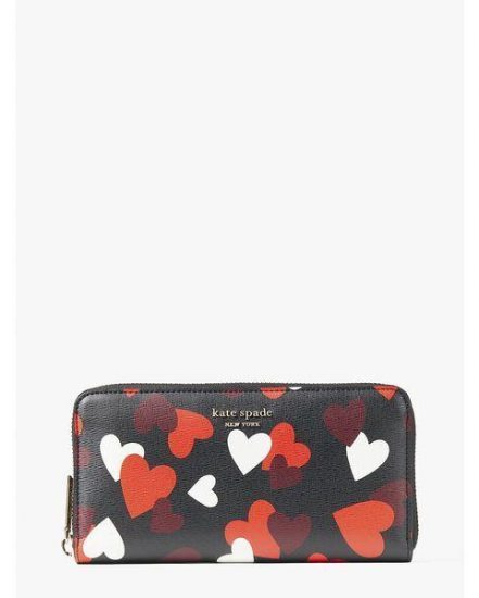 Fashion 4 - spencer celebration hearts zip-around continental wallet