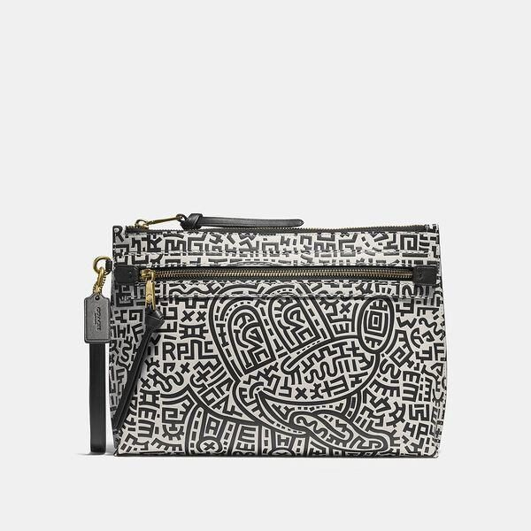 Fashion 4 Coach Disney Mickey Mouse X Keith Haring Academy Pouch
