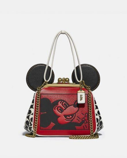 Fashion 4 Coach Disney Mickey Mouse X Keith Haring Kisslock Bag