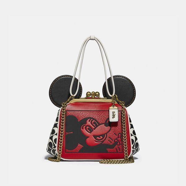 Fashion 4 Coach Disney Mickey Mouse X Keith Haring Kisslock Bag