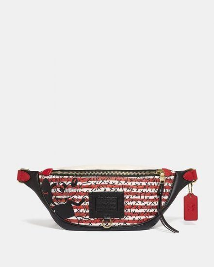 Fashion 4 Coach Disney Mickey Mouse X Keith Haring Rivington Belt Bag
