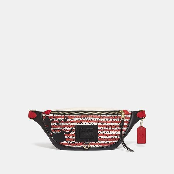 Fashion 4 Coach Disney Mickey Mouse X Keith Haring Rivington Belt Bag