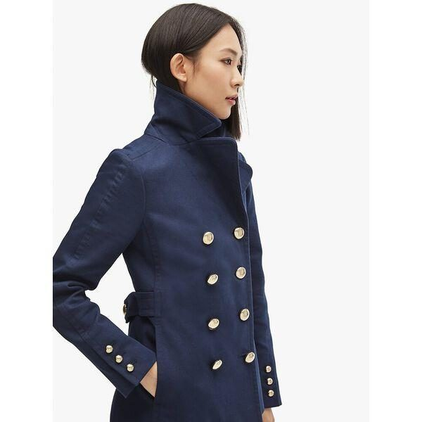 Fashion 4 - cotton classic double-breasted peacoat