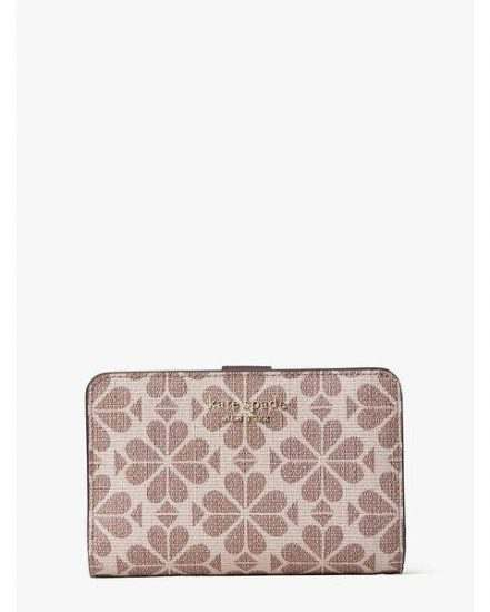 Fashion 4 - spade flower coated canvas compact wallet