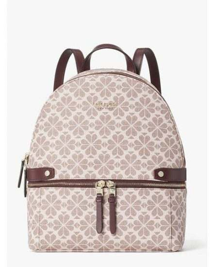 Fashion 4 - spade flower coated canvas day pack medium backpack