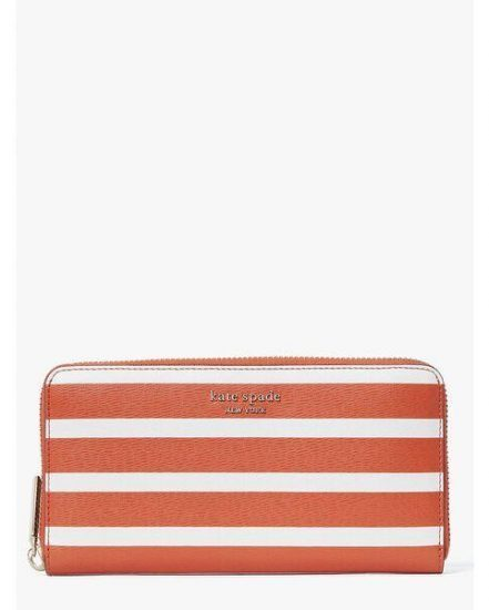Fashion 4 - spencer stripe zip-around continental wallet