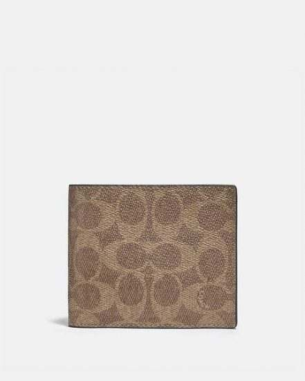 Fashion 4 Coach 3-In-1 Wallet In Colorblock Signature Canvas