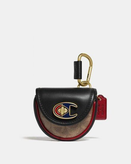 Fashion 4 Coach Coach X Champion Turnlock Key Fob In Signature Canvas