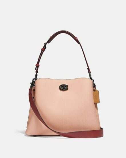 Fashion 4 Coach Willow Shoulder Bag In Colorblock With Signature Canvas Interior
