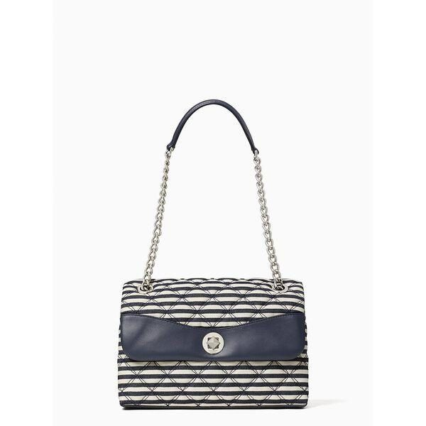 Fashion 4 - natalia lurex stripe medium flap shoulder bag