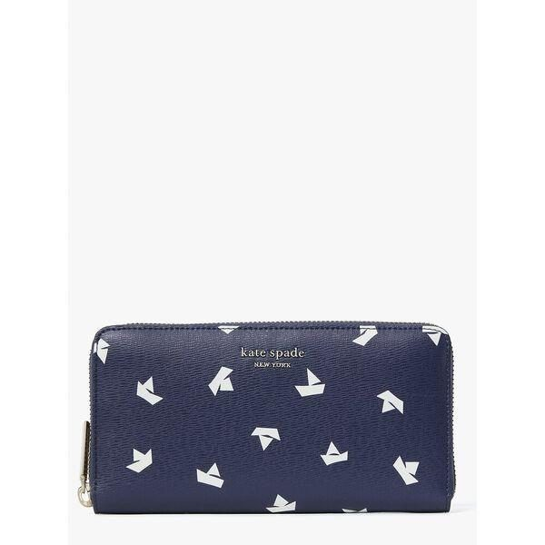 Fashion 4 - spencer paper boats zip around continental wallet