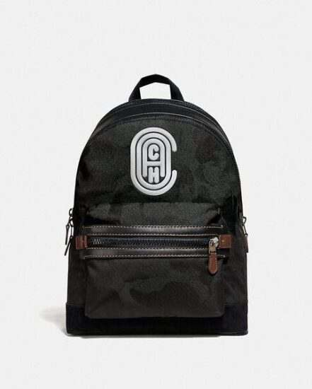 Fashion 4 Coach Academy Backpack With Wild Beast Print And Reflective Coach Patch