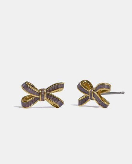 Fashion 4 Coach Bow Stud Earrings