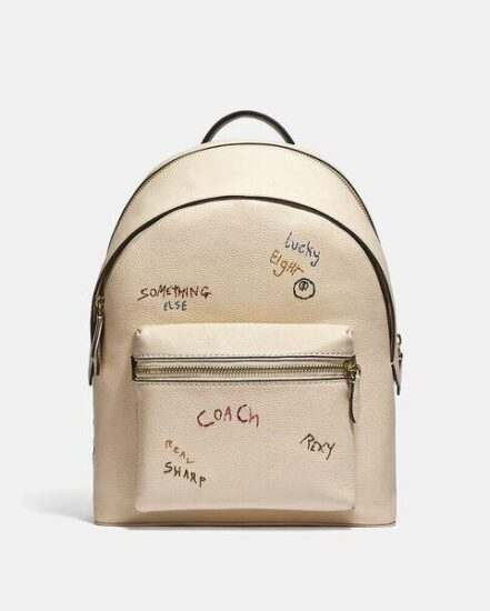 Fashion 4 Coach Charter Backpack With Embroidery