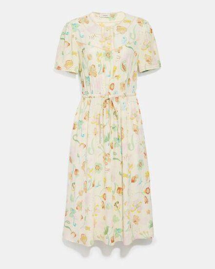 Fashion 4 Coach Trompe L'Oeil Short Sleeve Dress