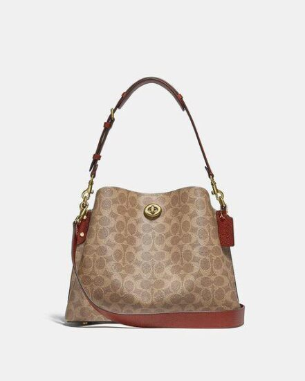 Fashion 4 Coach Willow Shoulder Bag In Signature Canvas