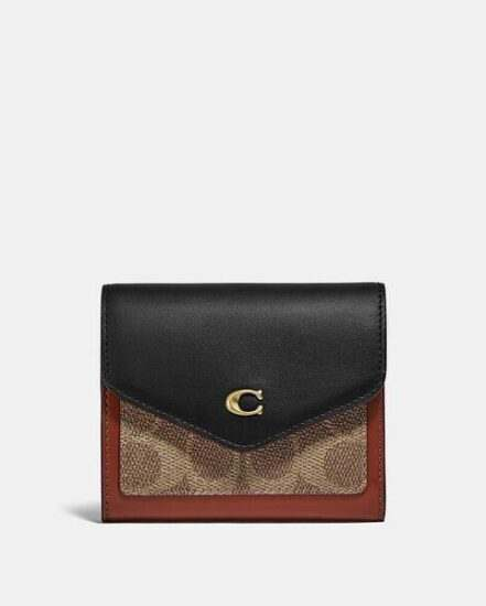 Fashion 4 Coach Wyn Small Wallet In Colorblock Signature Canvas