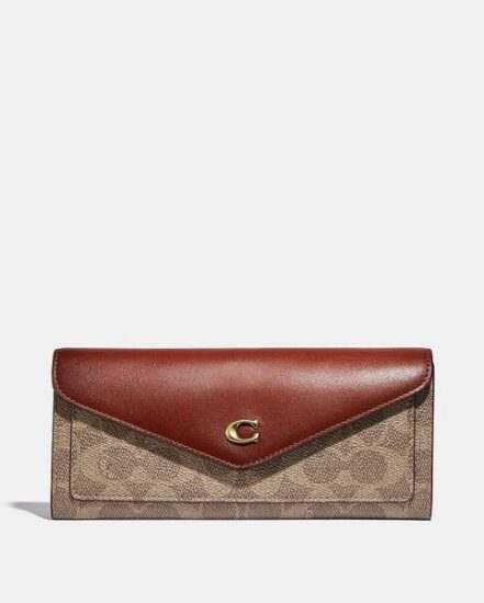 Fashion 4 Coach Wyn Soft Wallet In Colorblock Signature Canvas