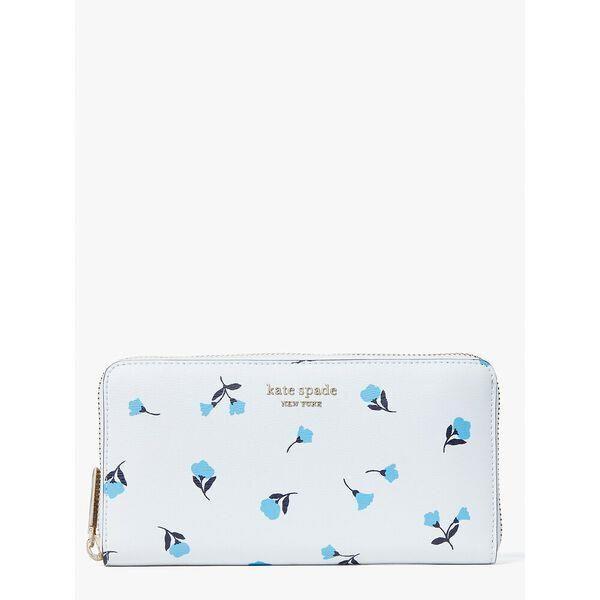 Fashion 4 - spencer dainty bloom zip-around continental wallet
