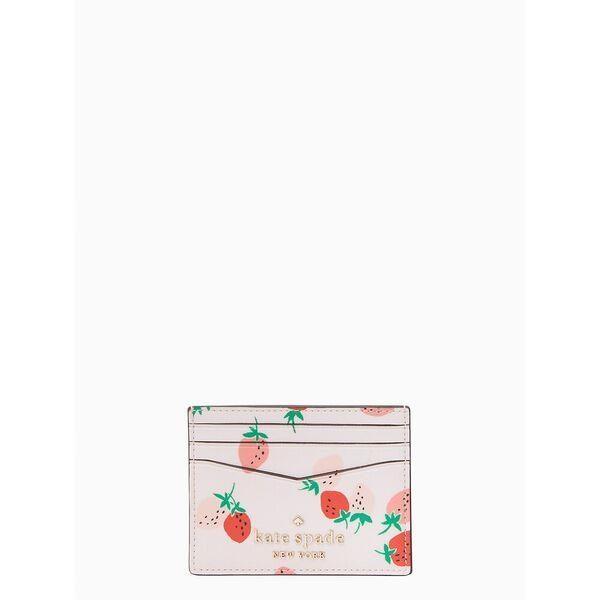 Fashion 4 - staci wild strawberries small slim card holder