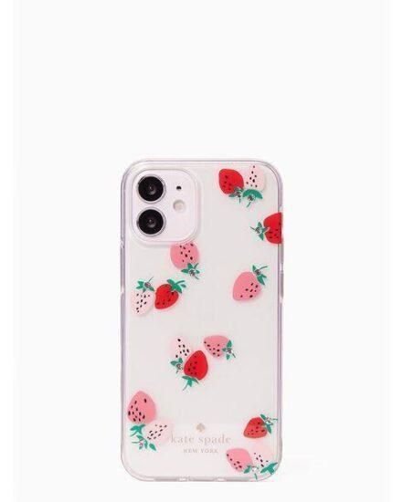 Fashion 4 - strawberry with gems iphone 12 mini case