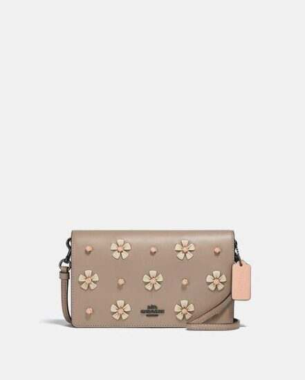 Fashion 4 Coach Hayden Foldover Crossbody Clutch With Tea Rose Knot