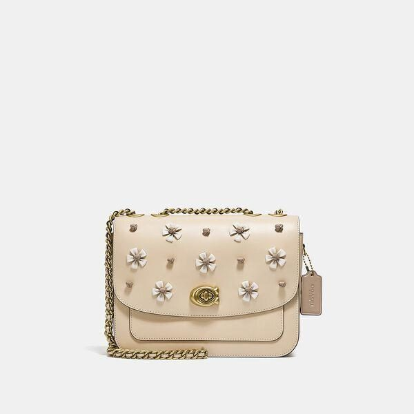 Fashion 4 Coach Madison Shoulder Bag With Tea Rose Knot