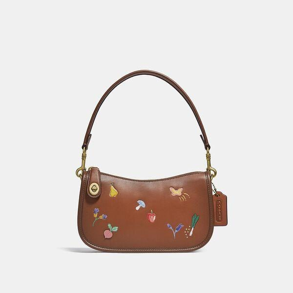 Fashion 4 Coach Swinger Bag With Garden Embroidery