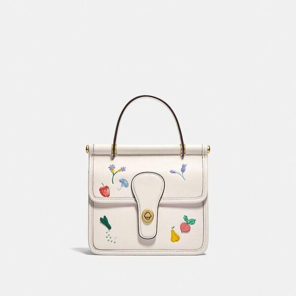Fashion 4 Coach Willis Top Handle 18 With Garden Embroidery