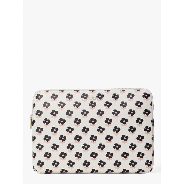 Fashion 4 - block floral laptop sleeve