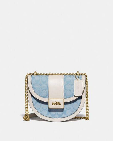 Fashion 4 Coach Alie Saddle Bag In Signature Chambray